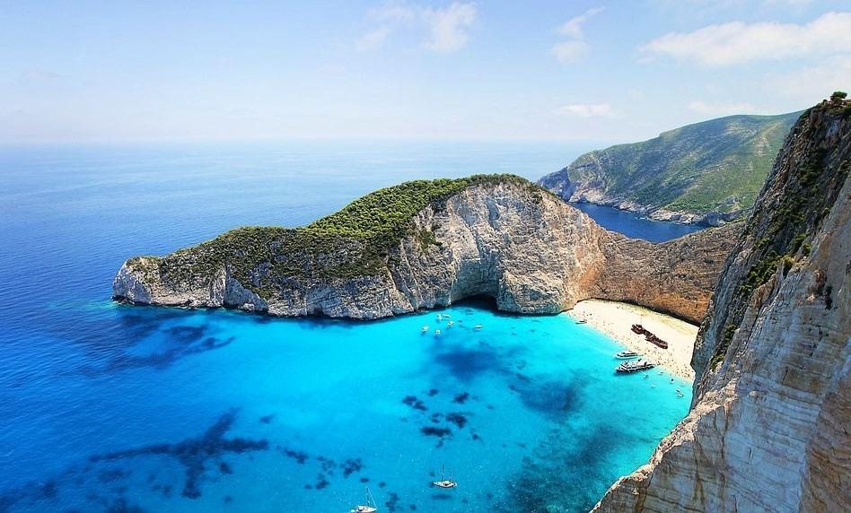 Закинф остров в Греции