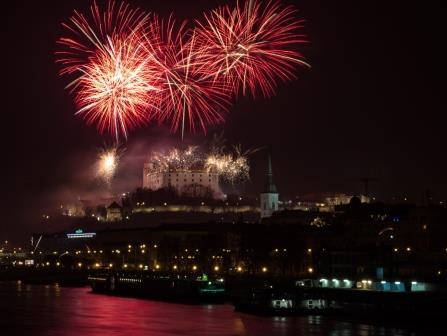 Новый год в Братиславе Словакии
