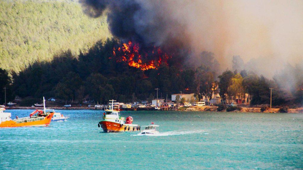 Лесные пожары в Турции